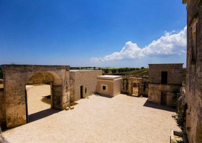 Masseria Celano's court (top view)