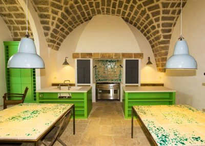 communal kitchen, Masseria Celano