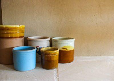 vasi di ceramica dai colori pastello