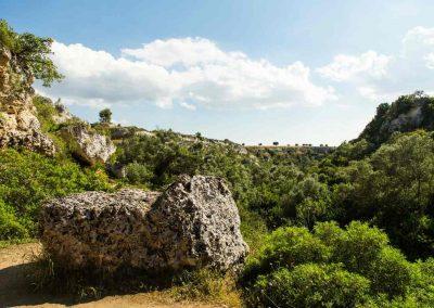 Gravina di Riggio, panorama dalla Grotta Fortezza
